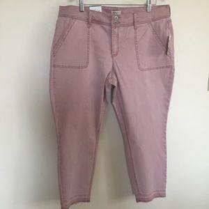 NWT Style & Co Plus Size Pink Raw-Hem Skinny Pants